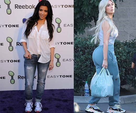 Kim Kardashian before after