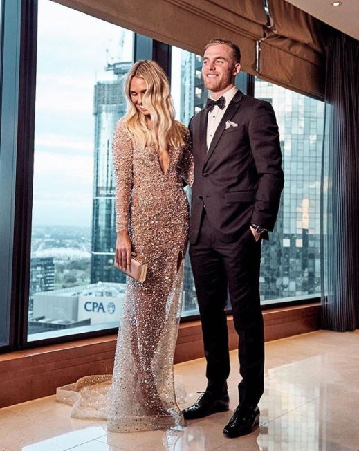 Hannah Emerson, who's dating Brownlow Medal fave Tom Mitchell, in One Day Bridal.