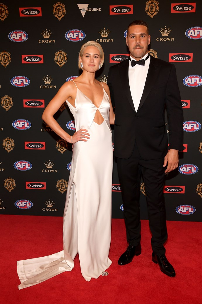 WAG royalty Jesinta Franklin and husband Buddy looking like the Posh and Becks of the footy world.