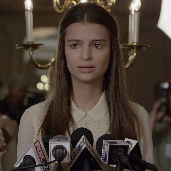 "**Emily Ratajkowski:** OK, so she kind of rose to fame by going topless in the music video for Robin Thicke's 'Blurred Lines', but Em Rata has only really stripped off on the silver screen in 2014's *Gone Girl*, in which she played Ben Affleck's character's much-younger mistress. During her sex scene with Ben, Em said, ""there was only a few camera guys and David [Fincher, the director] and Ben which made it a lot easier."" She said Ben: ""made me feel comfortable as a friend and that made it all feel good. You don't really have much time to be overly self-conscious."""