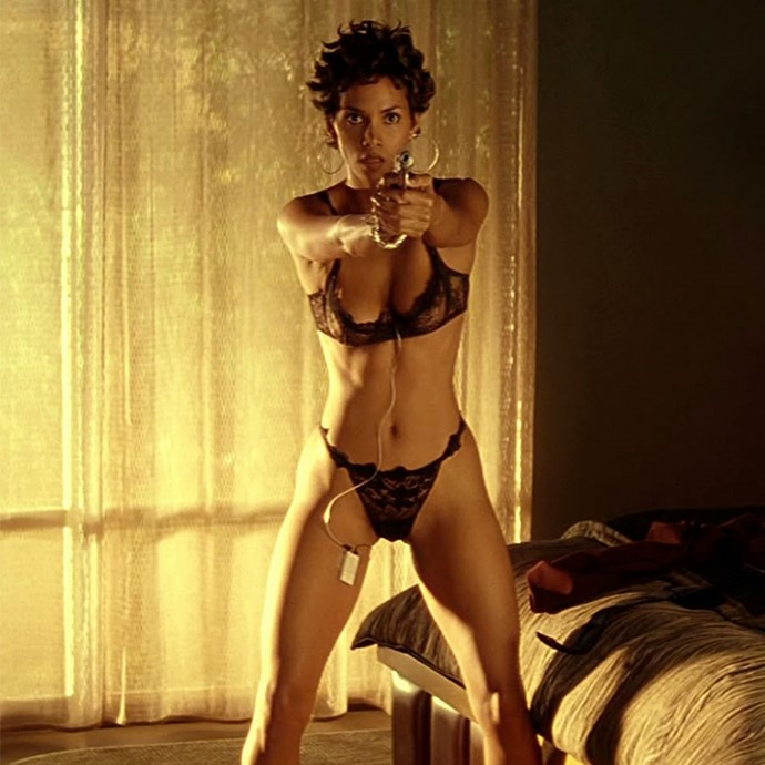 "**Halle Berry:** Halle Berry's topless scene in the 2001 John Travolta movie *Swordfish* caused a sensation. It was originally reported the film's producers had to increase Halle's fee in order to get her to strip off, but Halle has denied those rumours. Halle [said](https://ew.com/article/2001/06/11/why-halle-berry-went-topless-swordfish/|target=""_blank""