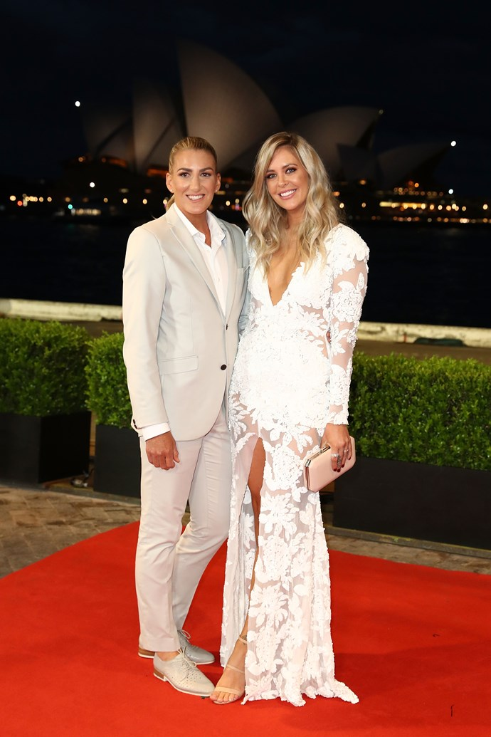 Ali Brigginshaw and Kate Daly, living for the suit!