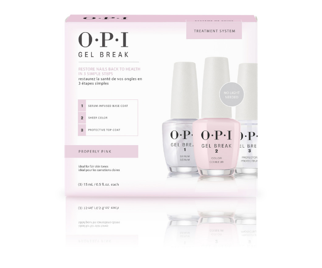 "**OPI Gel Break, $67.50 at [Adore Beauty](https://www.adorebeauty.com.au/opi/gel-break.html|target=""_blank"")** <br><br> This three part system keeps hands looking fresh, while nourishing ingredients like vitamins A, C and E and safflower-seed oil hydrate and strengthen."