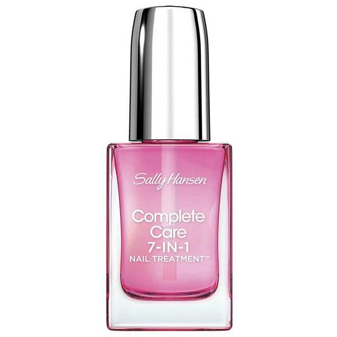 **SALLY HANSEN Complete Care 7 in 1 Treatment, $19.95 at Priceline** <br><br> This 7 in 1 nail treatment brightens and moisturises nails to achieve stronger, healthy looking nails.