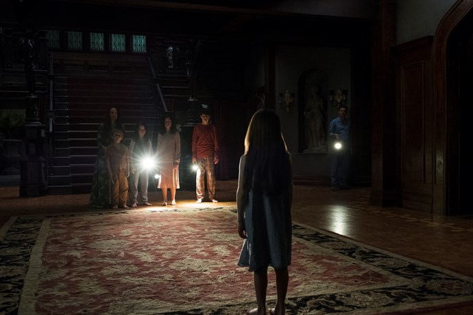 An incredibly freaky scene from *The Haunting of Hill House*.