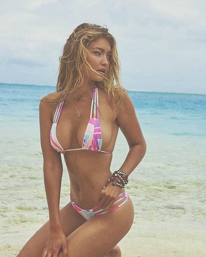 **Gigi Hadid:** Supermodel Gigi might seem like a wildcard choice considering she isn't contractually an 'Angel' yet, but if we're ranking by influence, she's definitely one the most talked-about models since her 2015 debut (aside from her controversial omission from the 2017 show). *Image: @gigihadid*