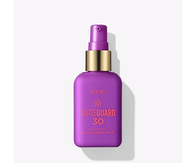"""This vegan physical sunscreen is a BIG DEAL. It's a lightweight mineral sunscreen that's non-sticky, but also nourishing and brightening. Even better: it never leaves a ghostly white residue so your summer selfies are safe.  <br><br> [Tarte Tarteguard 30](https://tartecosmetics.com/en_AU/makeup/tarteguard-30-moisturizing-sunscreen-lotion-broad-spectrum-uva-uvb-protection-spf-30/661.html?dwvar_661_color=multi&cgid=#q=spf&lang=en_AU&start=5