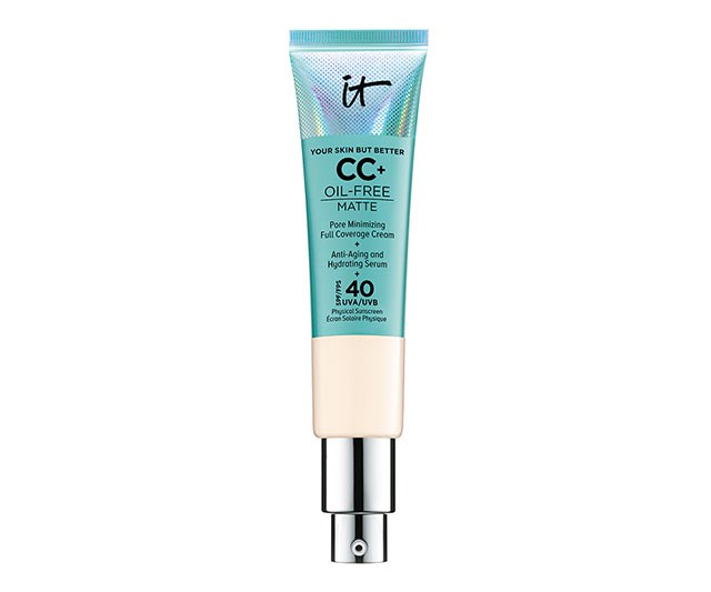 """It's more than a little ballsy to call a product 'Your Skin But Better', but we know by now that if anyone can back up the claim, it's It Cosmetics. Their latest CC+ Cream is a dream come true for anyone looking for oil-free, matte full coverage this summer with SPF 40 thrown in for free. Talk about acing your base. <br><br> [It Cosmetics Your Skin But Better CC+ Cream Oil-Free Matte with SPF 40](https://www.sephora.com.au/products/it-cosmetics-your-skin-but-better-cc-plus-cream-oil-free-matte-with-spf-40/v/fair