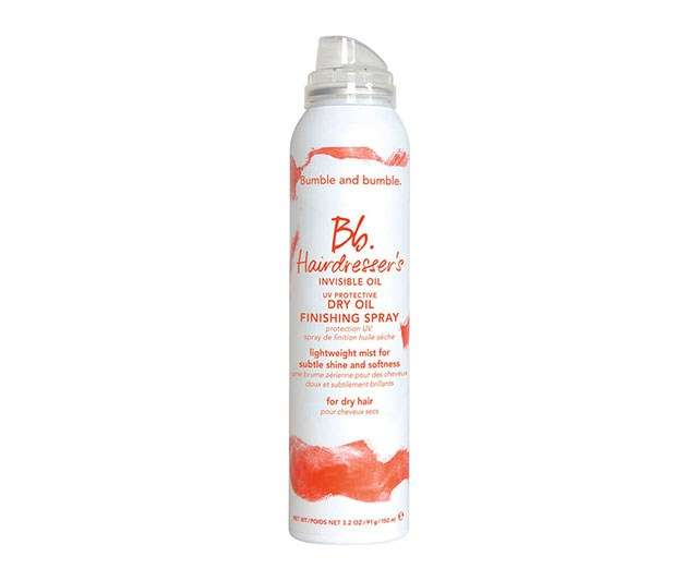 """As well as being a deadset dream at taming frizz and out-of-control flyaways, this finishing spray also protects your hair from damaging UV rays so you won't be left with fried strands at the end of summer. <br><br> [Bumble and Bumble Hairdresser's UV Protective Dry Oil Finishing Spray](https://www.mecca.com.au/bumble-and-bumble/hairdressers-uv-protective-dry-oil-finishing-spray-150ml/I-024264.html