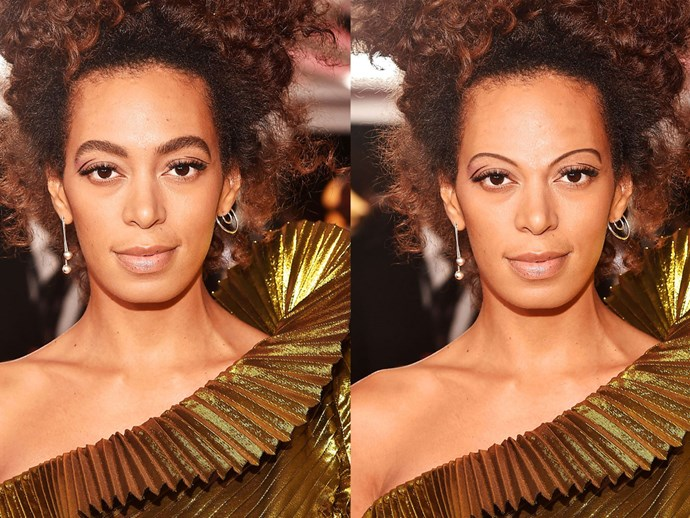 Here's how famously full brows look severely downsized.