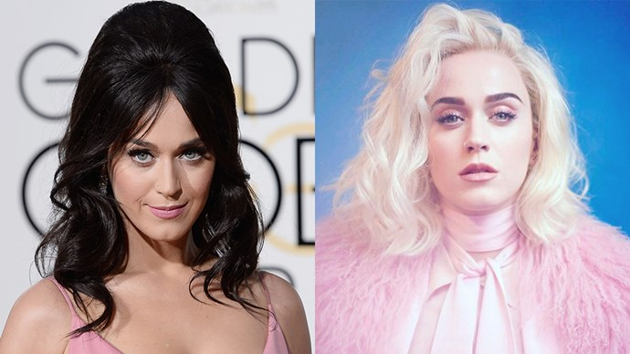 "**Katy Perry** <br><br> In an [Instagram](https://www.instagram.com/p/BQMb2LCAURu/?taken-by=katyperry|target=""_blank"") appropriately captioned, ""New life who dis"", Katy Perry has shown off her new look—a white platinum lob. We dig."