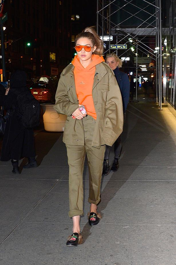 And, once again, Gigi Hadid followed suit in her own edgy way.
