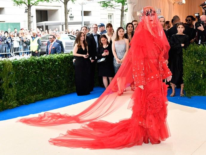 Katy Perry in Maison Margiela Artisnal by John Galliano.