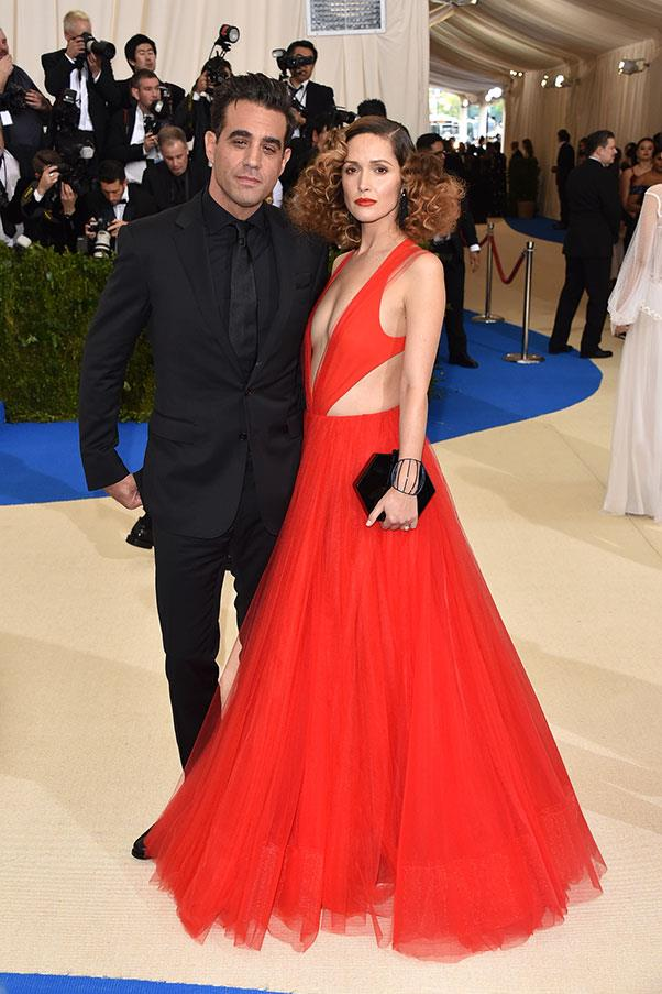 Rose Byrne, in Ralph Lauren, and Bobby Canavale.