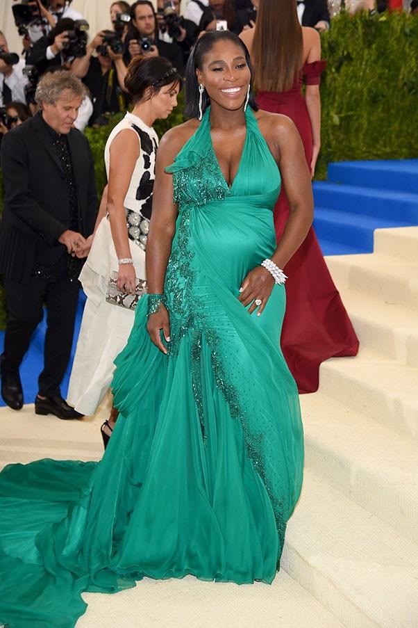 Serena Williams in Atelier Versace.