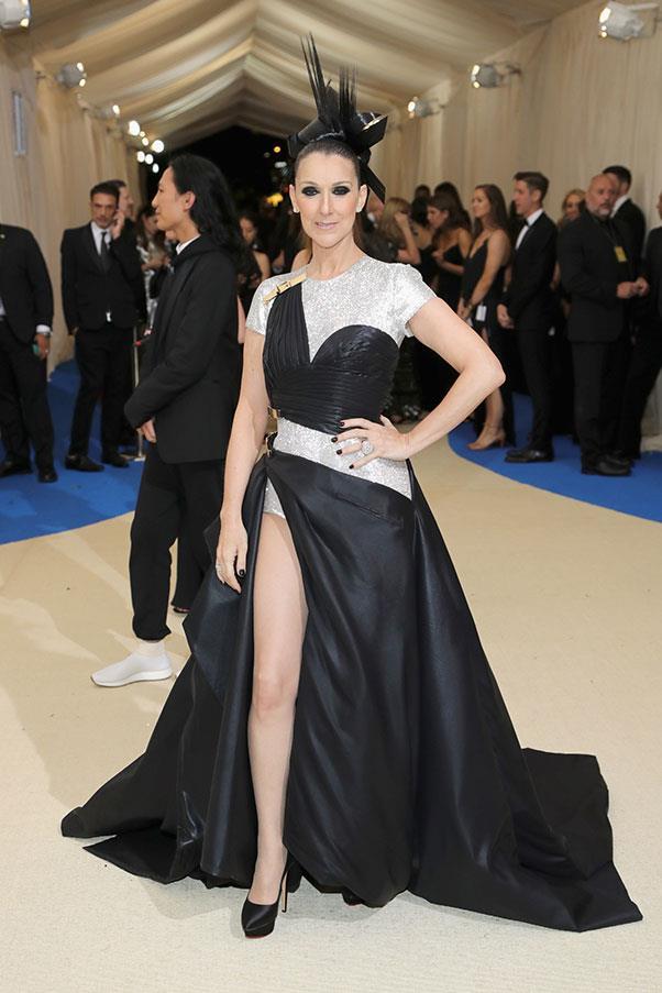 Celine Dion in Versace.