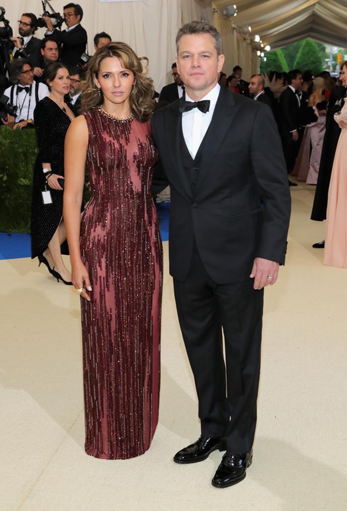 Luciana Barroso and Matt Damon had a night off from the kids.
