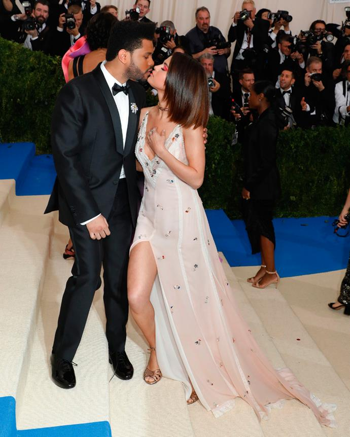 They also engaged in some red carpet PDA (before The Weeknd's ex, Bella Hadid, arrived).
