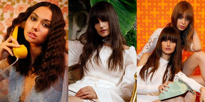 **Alice McCall, 2016** For the brand's Resort '17 presentation, Alice McCall memorably opted to convert Sydney bar Gardel's into a part-1970s-loungeroom, part-Opium-Den-homage. The hair and beauty look was equally as inspired, with smokey eyes poking out under super-long lengths and chic bangs.