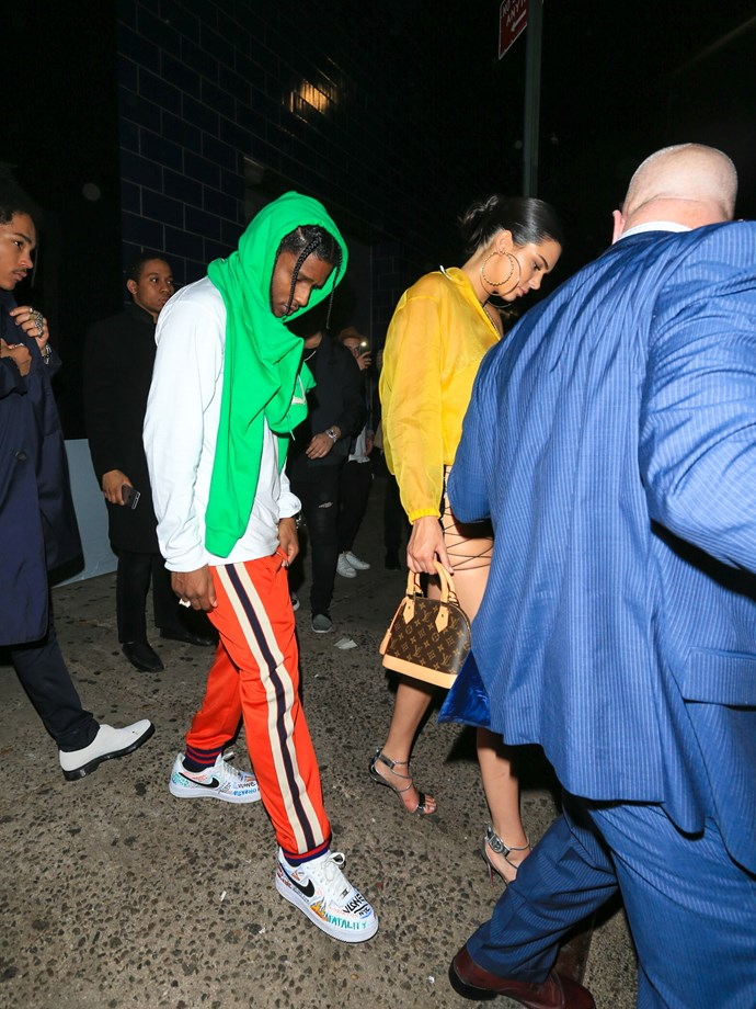 Kendall Jenner and A$AP Rocky.