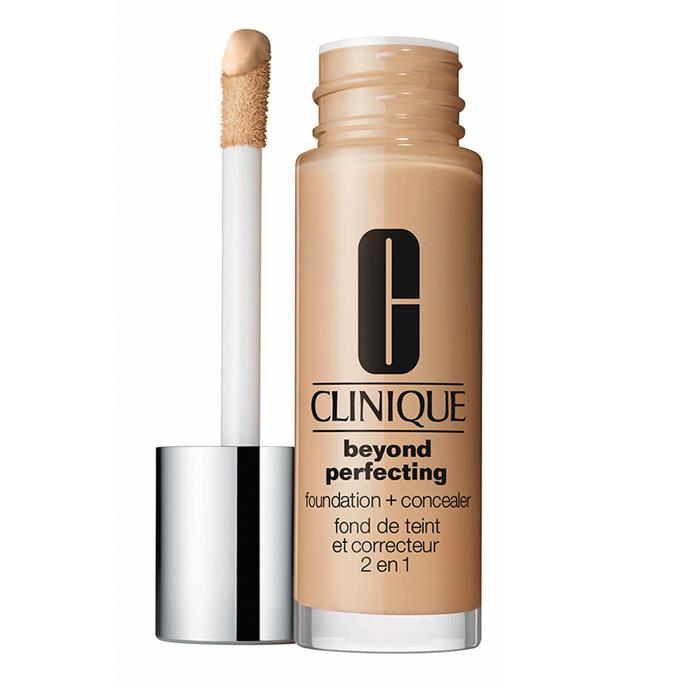 A little bit of this full-coverage foundation goes a long way creating a Facetune-worthy complexion in under a minute. Extra bonus points for the nifty applicator that can be used to apply the foundation *and* spot conceal any problem areas. Beyond Perfecting Foundation and Concealer, $52, at [Clinique](http://www.clinique.com.au/product/1599/34817/makeup/foundations/beyond-perfecting-foundation-and-concealer)