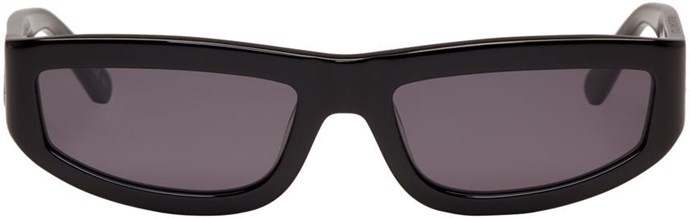 "Sunglasses by Stella McCartney, approx. $264 at [Ssense.com ](https://www.ssense.com/en-us/women/product/stella-mccartney/black-rectangular-slim-sunglasses/1997893|target=""_blank"")"