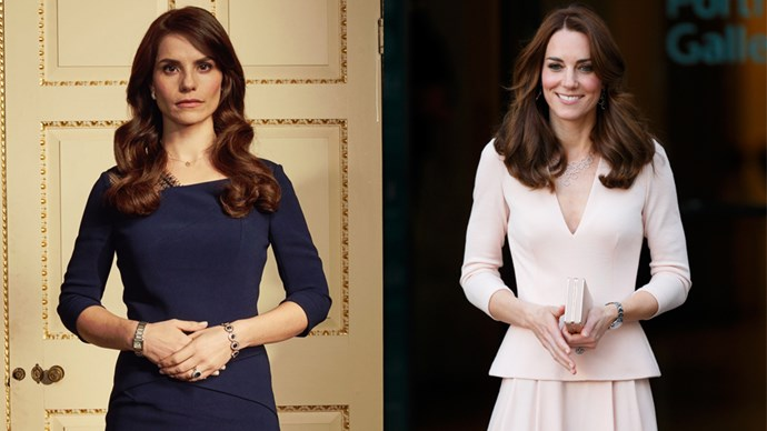 The first images of *Peaky Blinders* actress Charlotte Riley playing Kate Middleton have emerged, and it looks like Charlotte has got the regal thing down.