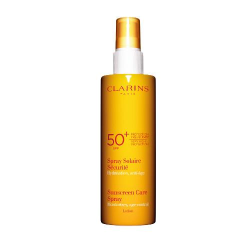 "**2. Clarins Sunscreen Care Spray For Body SPF 50, $40, at [AdoreBeauty](https://www.adorebeauty.com.au/clarins/clarins-sunscreen-care-spray-very-high-protection-spf-50-body.html|target=""_blank""