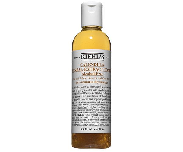 """The Toner has whole Calendula petals in it to balance and soften my skin. The flower itself is a vibrant hue of marigold orange, and the petals have this almost magical ability to gently soothe my skin."" <p> Calendula Herbal- Extract Toner, $87, at [Kiehl's](http://www.kiehls.com.au/calendula-herbal-extract-alcohol-free-toner/3700194711719.html#q=Calendula+Herbal-+Extract+Toner&start=4