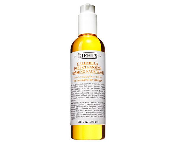 """""""I cleanse with Kiehl's Calendula Deep Cleansing Foaming Face Wash morning and night."""" <p> Calendula Deep Cleansing Face Wash, $39, at [Kiehl's](http://www.kiehls.com.au/calendula-deep-cleansing-foaming-face-wash/3605970630881.html