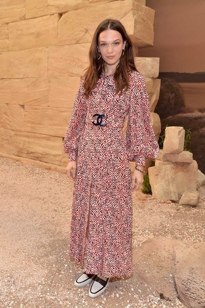 Who: Anna Brewster  Where: Chanel Cruise '18  What: British actress and model  Age: 31