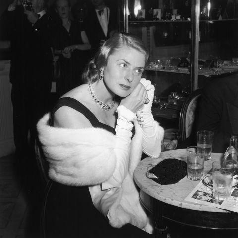 **INGRID BERGMAN, 1956**  Ingrid, always the most glamorous.