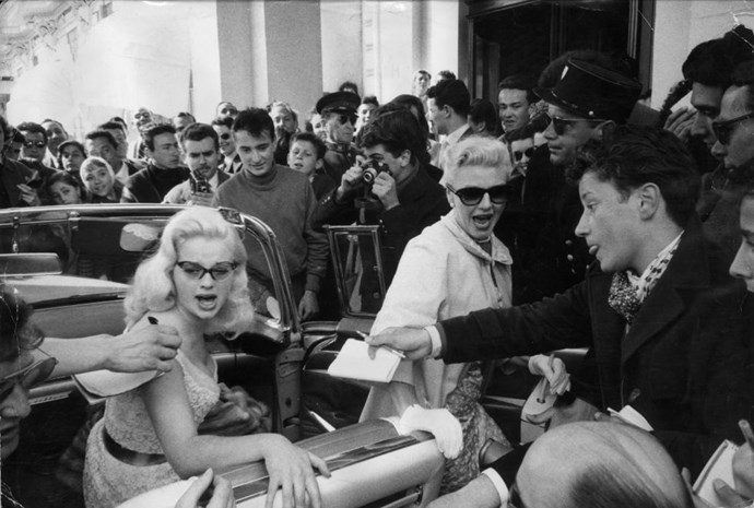 **DIANA DORS AND GINGER ROGERS, 1956**  Even before Instagram, Snapchat, and selfies (or cell phones for that matter...) were born, movie stars of the Diana Dors and Ginger Rogers-pedigree attracted major paparazzi.