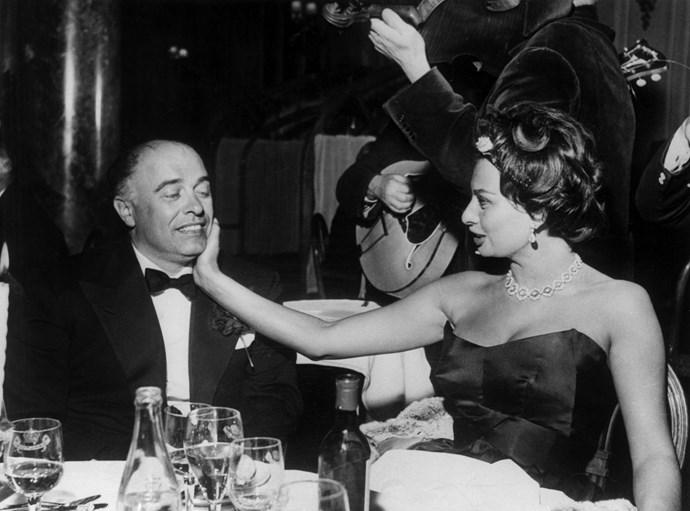 **CARLO PONTI AND SOPHIA LOREN, 1958**  Uh huh honey.