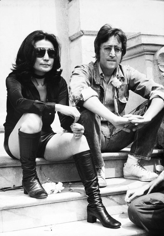 **YOKO ONO AND JOHN LENNON, 1970**  This.