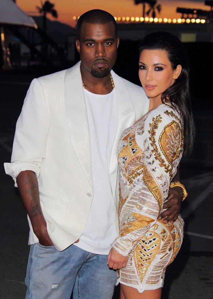 **KANYE WEST AND KIM KARDASHIAN, 2012**  When Kimye did Cannes.