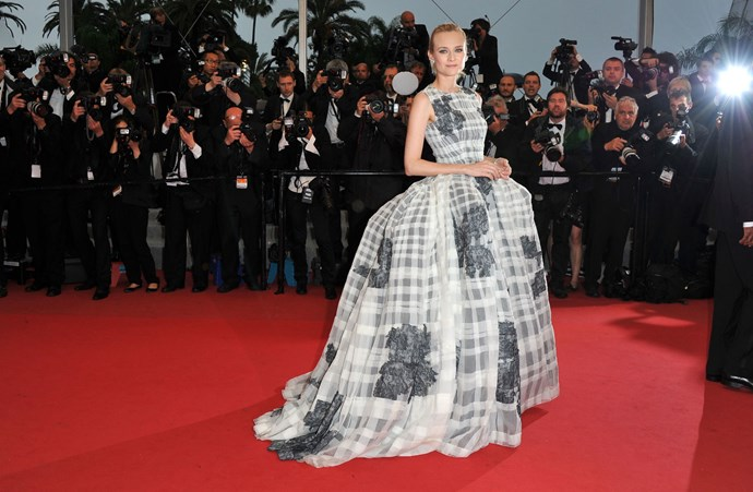 **DIANE KRUGER, 2012**  Diane Kruger ALWAYS wears a show-stopper of a gown on the Cannes red carpet. Always. But in 2012, the actress was a member of the jury, which meant we got to see a lot of really freaking good fashion... like this Dior Haute Couture number.