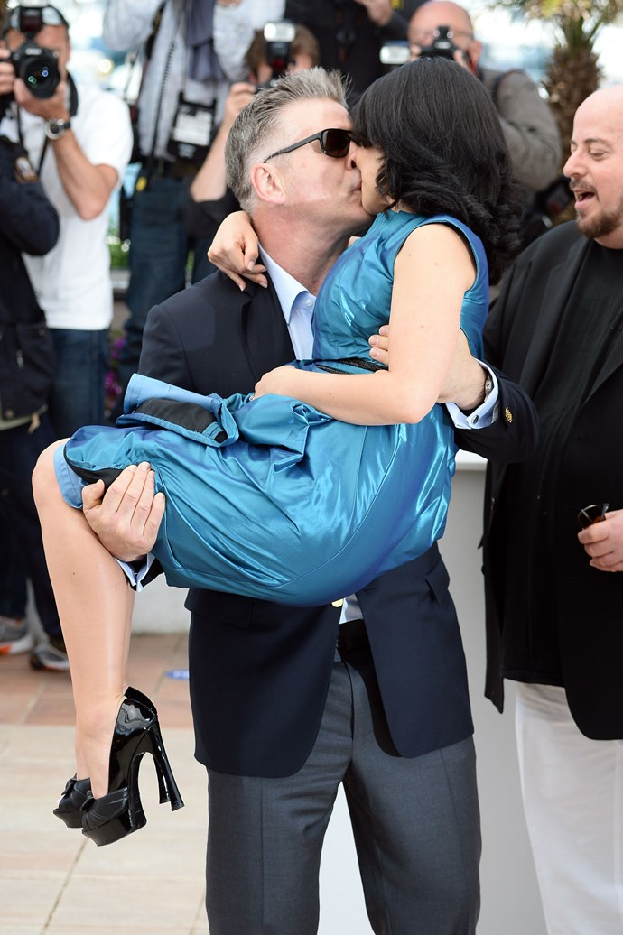 **ALEC AND HILARIA BALDWIN, 2013**  And the award for most PDA ever goes to...