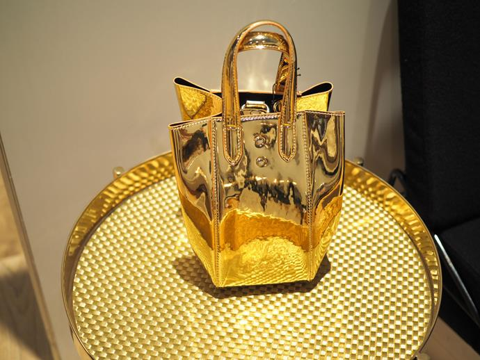 **11am:** The Suites featured new mini gold bags by X Nihilo.