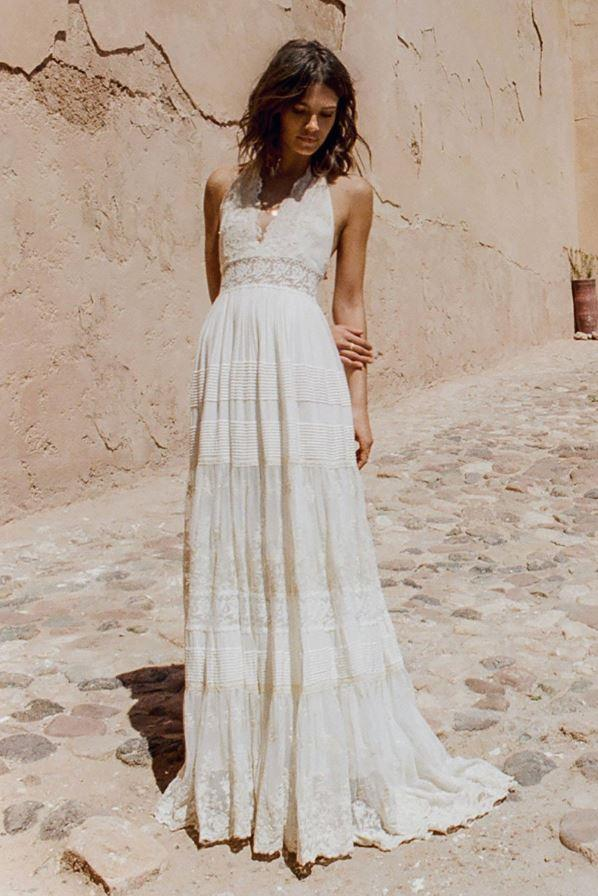 Angelica Halter Gown, $995 at Spell Bridal.