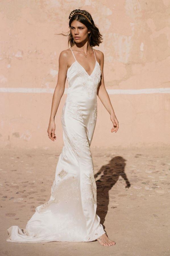 Odette Slip Dress, $1,195 at Spell Bridal.