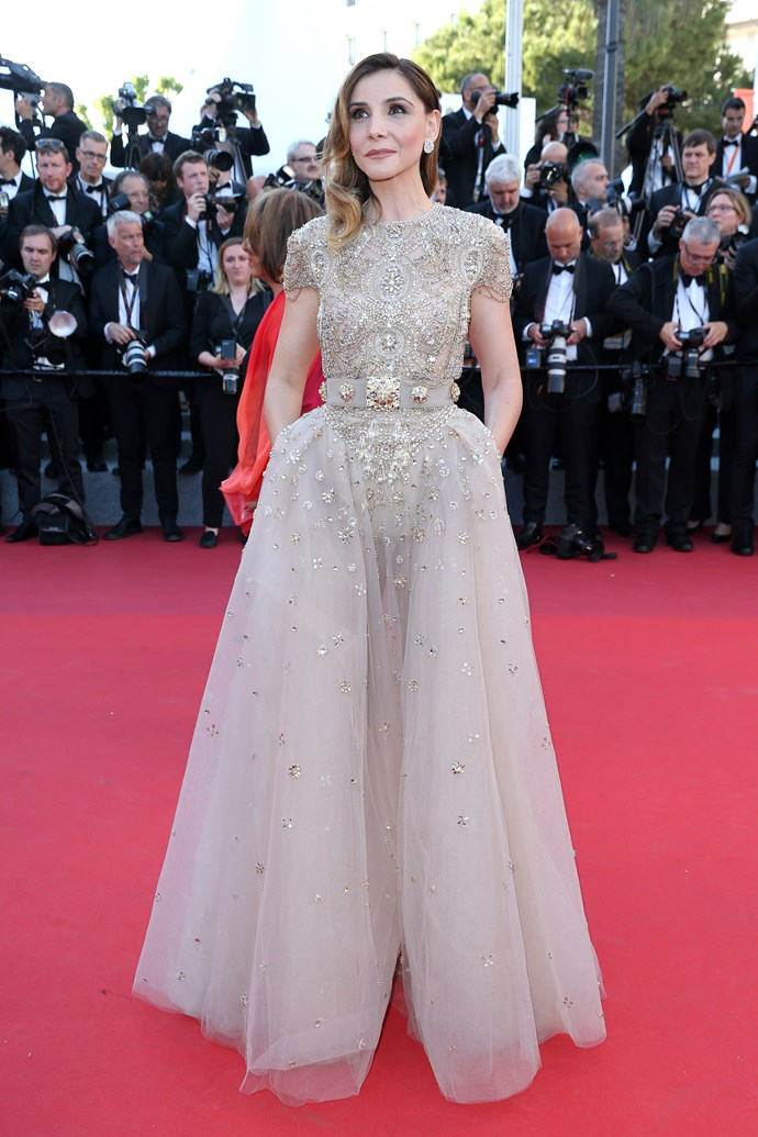 Clotilde Courau in Elie Saab Couture.