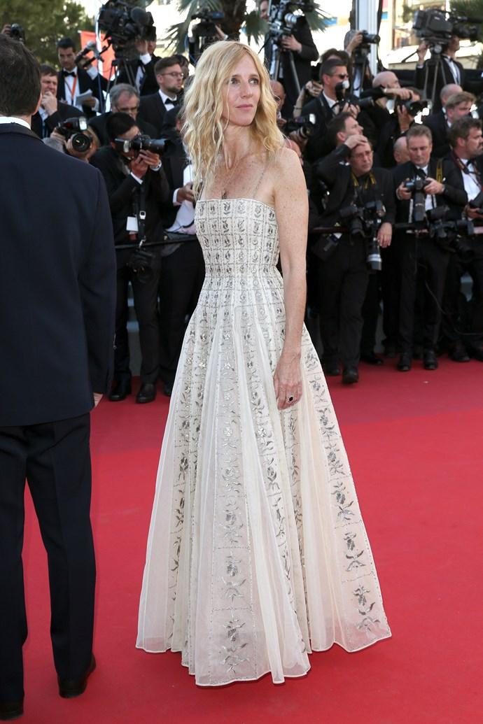 Sandrine Kiberlain in Dior.