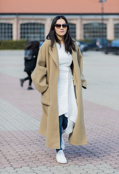 **TINA LEUNG**  Box fresh sneakers are always a good idea, as shown by stylist Tina Leung.