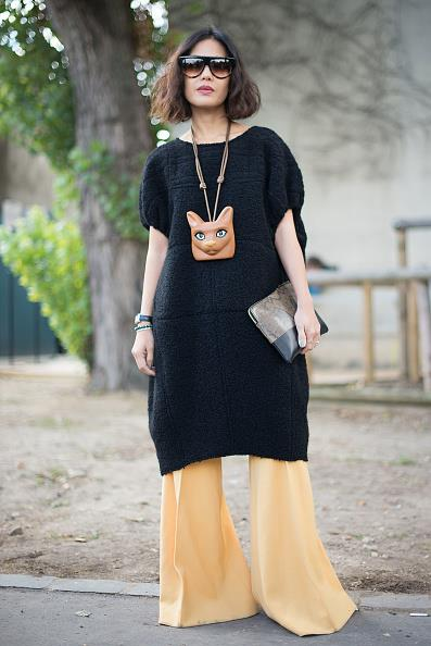 **SUAVDEE PINNY**  Channel Céline like Suavdee Pinny and double up on oversized proportions.