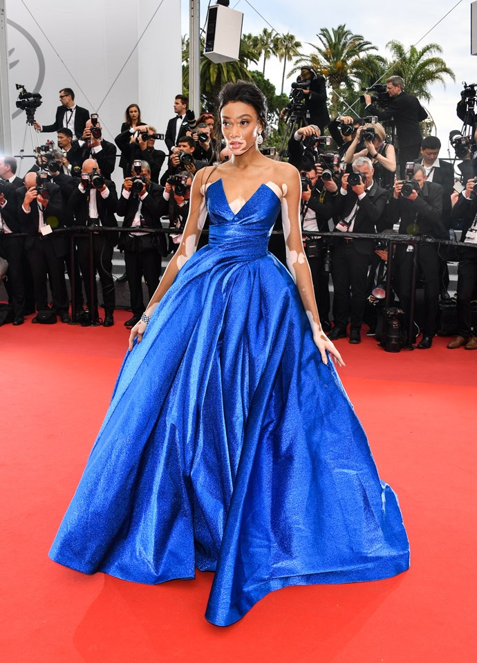 Winnie Harlow in Zuhair Murad Couture.
