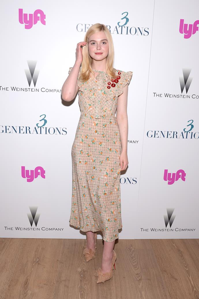 Elle's inner Miu Miu girl made an appearance at the screening of *3 Generations*.