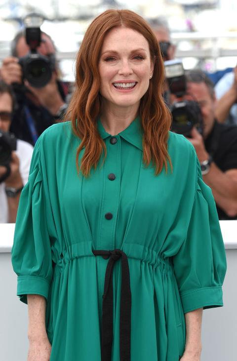 Julianne Moore is a true natural beauty. For most of her red carpet appearances at this year's festival, she has kept her hair loose with a beachy wave. It complements her barely-there make-up perfectly.   *Getty Images*