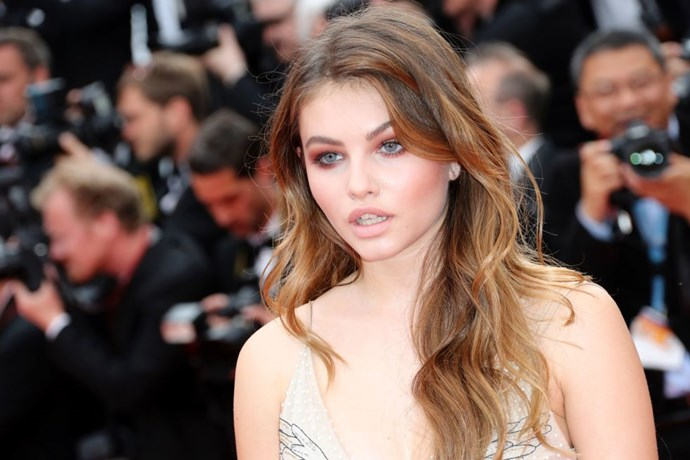 Actress and model Thylane Blondeau demonstrated how French woman do effortless hair.   *Getty Images*