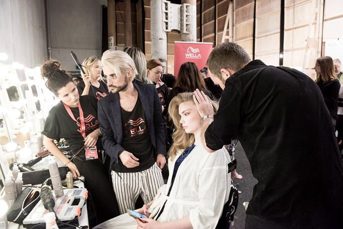 """**Zhivago**   Renya Xydis, Wella Professionals ANZ Creative Director & Zhivago Hair Director said: """"We wanted to create a look that is all about fun and excess of the mid-to-late 90's inspired by Miami Nights.   *Image: Sonny Vandevelde*"""